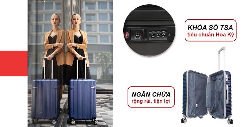 Lựa chọn vali có khóa số an toàn